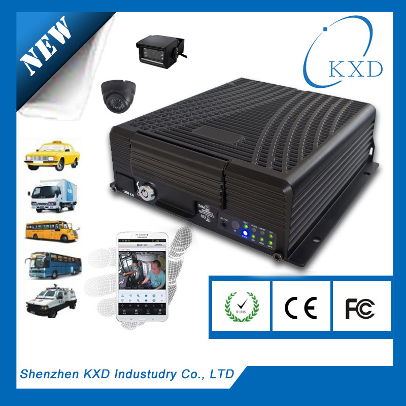 Wholesale - HD 4CH H.264 Pentaplex Mobile car Truck Network DVR 3G phone Viewing Supports Up To 2TB HDD