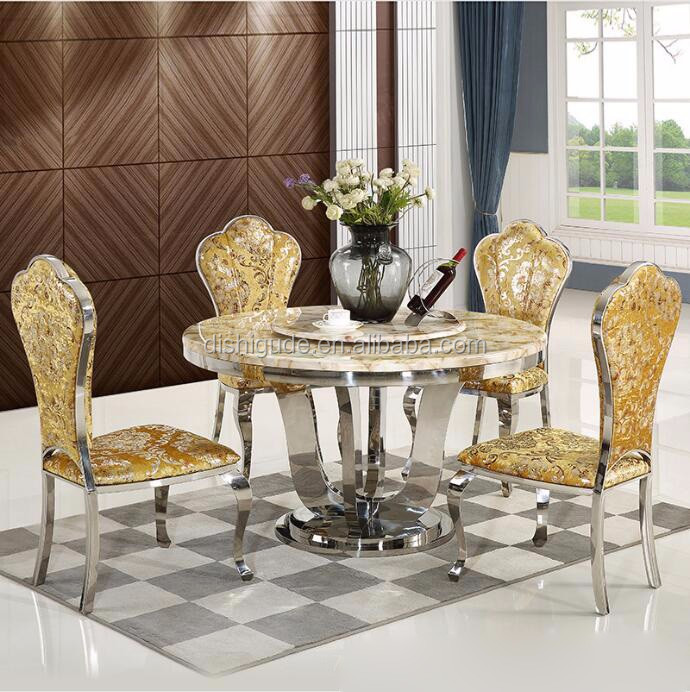 royal dining room furniture sets stainless steel marble top round