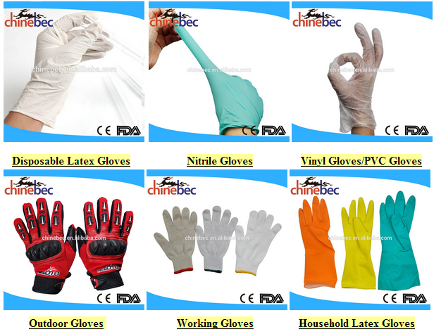 Hospital Consumables Medical Latex Working Gloves Heat Resistant Price