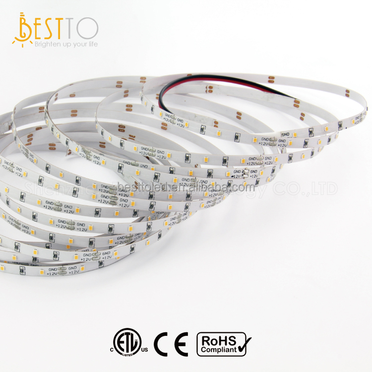 ETL/CE 12 / 24V DC input 60 LEDs/m 5mm wide mini PCB SMD2216 high CRI flexible LED strip light for mini aluminium profile