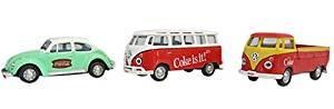 Motor City Classics 1:72 VW Gift Set Beetle T1 Pickup Samba Bus