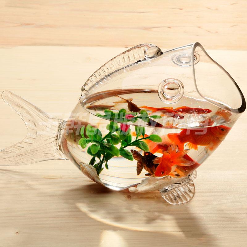 Hot sale fish shaped glass fish bowl aquarium fish tank for Fish shaped bowl