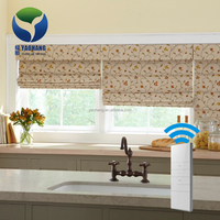 Electric Motorized Clear Fabric Sun Shade Roller Blinds For Windows