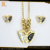 Stainless steel accessories simple gold butterfly pendant design jewelry set for women or kids necklace
