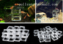 Mini Crystal Shrimp House Small Square Lattice Aquarium Decoration Aquarium Accessories ,Free Shipping New Arrival Accessories