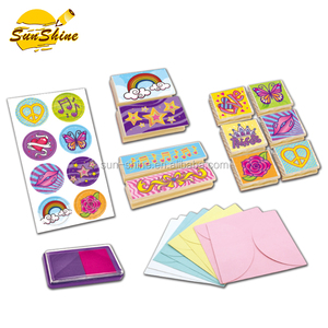 hot selling DIY kit wooden stamps set for children