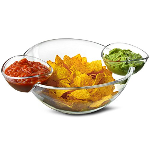 Best Quality Clear Food Grade Plastic Chip And Dip Bowl Unique Salad Bowls Serving Product On Alibaba