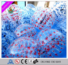2016 New design inflatable bumper ball bubble suit led walk in plastic bubble ball
