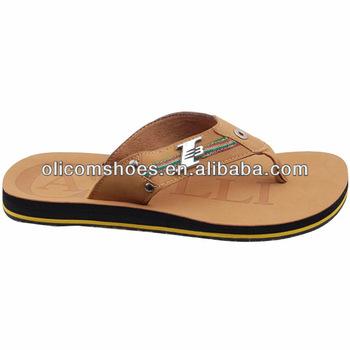 Men Leather Sandals And Slippers,Men Footwear Designs Slipper ...