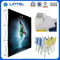 Portable floor standing pop up display modern exhibition booth