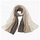 Women holiday warm knitted customized cashmere scarf