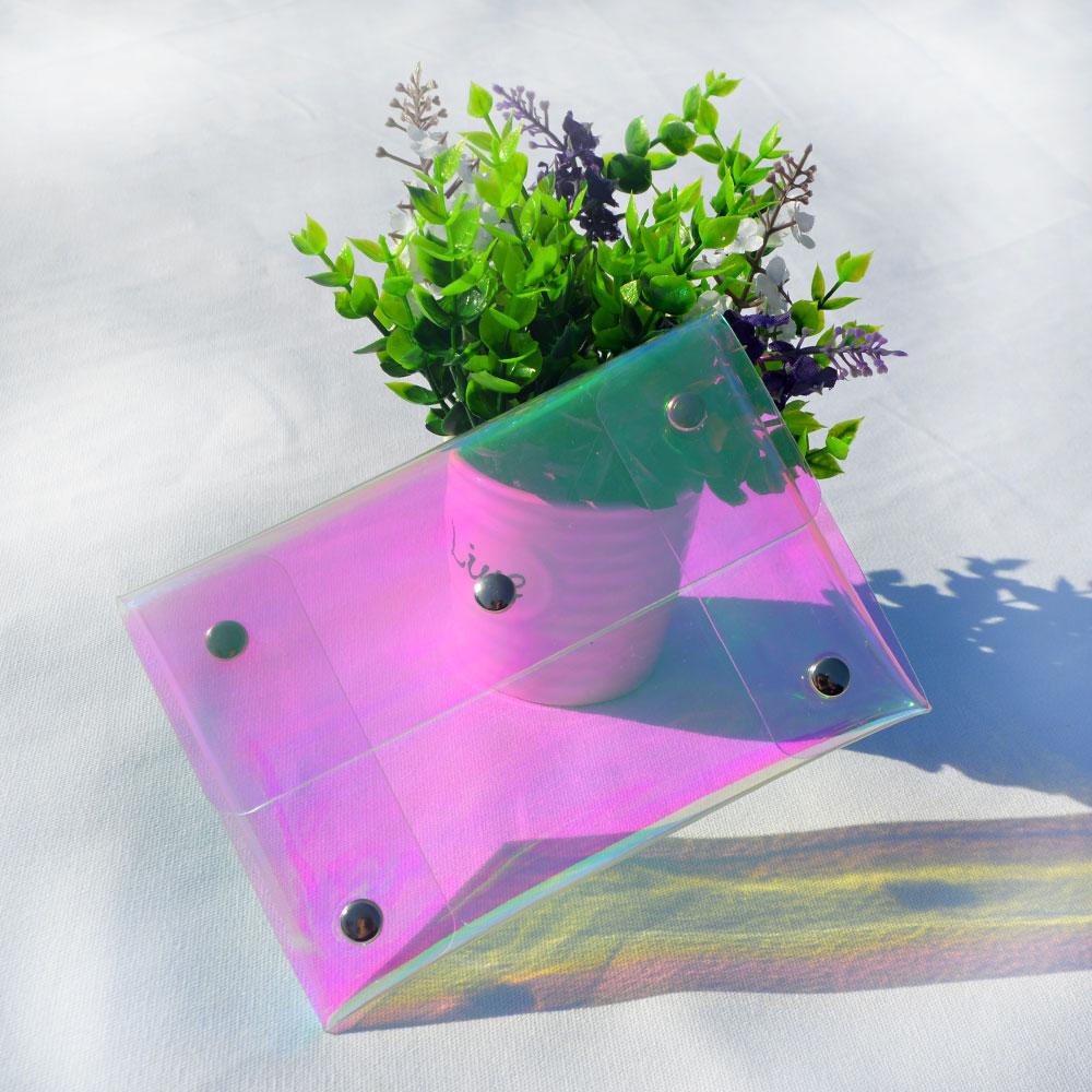 Olografica Iridescente PVC del Sacchetto di Frizione
