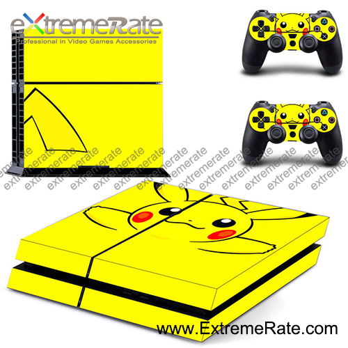 Hot selling customized yellow DRAGON BALL skin for PS4 console skin for PS4 controller sticker DPTM0064
