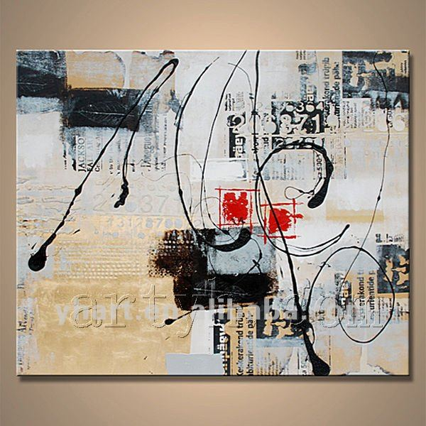 Hot Sell Modern Handmade Abstract Big Canvas Wall Oil Painting