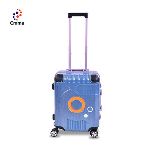 High Quality Medium Stock Suitcase Valise Suitcase ,Colorful Travel Luggage For Woman