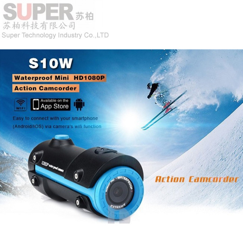 Two Colors Mini S10 HD 1080P WiFi Version Sport Camera Diving 10M Waterproof