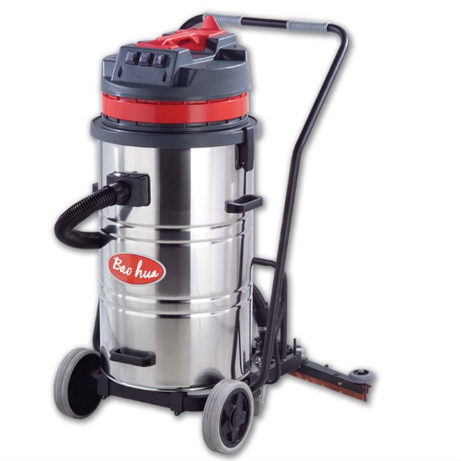 80L wet and dry vacuum cleaner with scrape(3 motor)