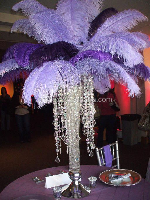 Wedding Centerpieces Ostrich Feather Centerpiece