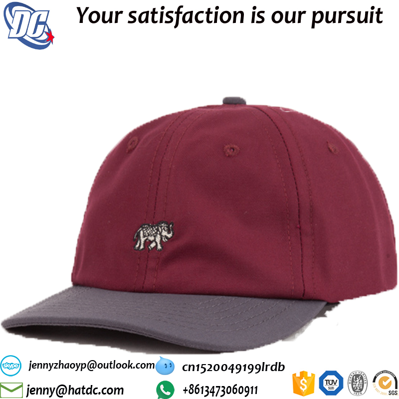 Custom embroidery lgo leather strap back custom cheap dad hat
