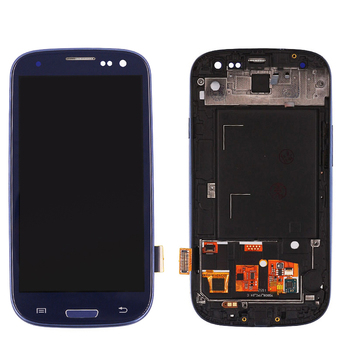 For samsung galaxy s3 i9300 LCD touch screen display replacement, LCD for samsung galaxy s3 i9300 LCD with frame assembly