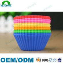 High quality BPA free silicone cupcake 12 cup, muffin silicone cupcake