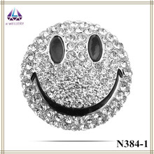 Lovely smiling face shape gold and plantinum plating full shiny rhinestone brooch bouquet for women dress