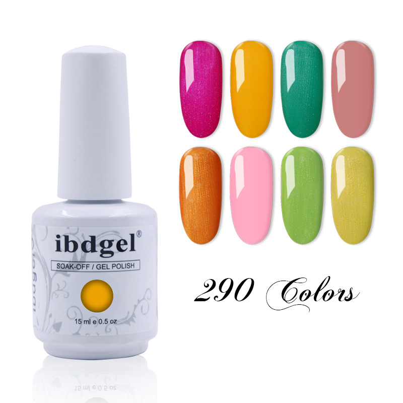 Ibdgel Gel di Colore Uv Del Gel Del Chiodo di Polishl di Alta Qualità Soak Off UV Esmalte Smalto Del Gel Del Chiodo 15 ml