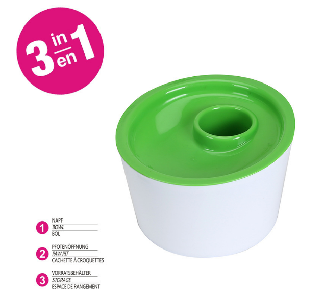 Multifunctional Pet Food Water Container 3 In 1 Personalized Cat Bowl Pet Water Bowl
