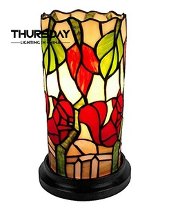 wholesale tiffany style stained glass lamp for table home decoration