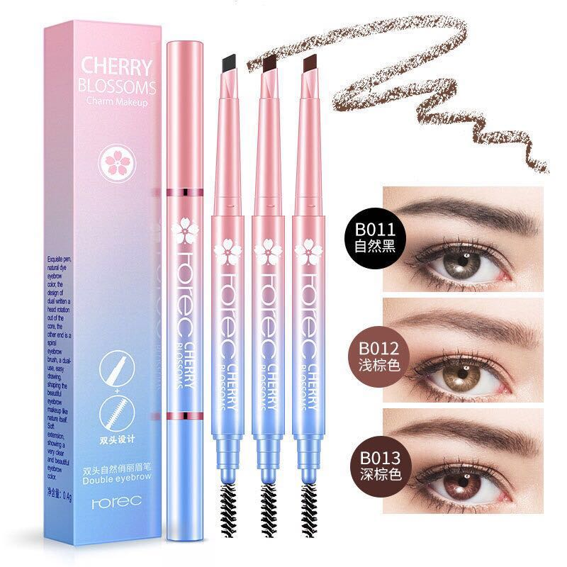 Beauty Makeup Tool Waterproof Automatic Double - Headed Eyebrow pencil
