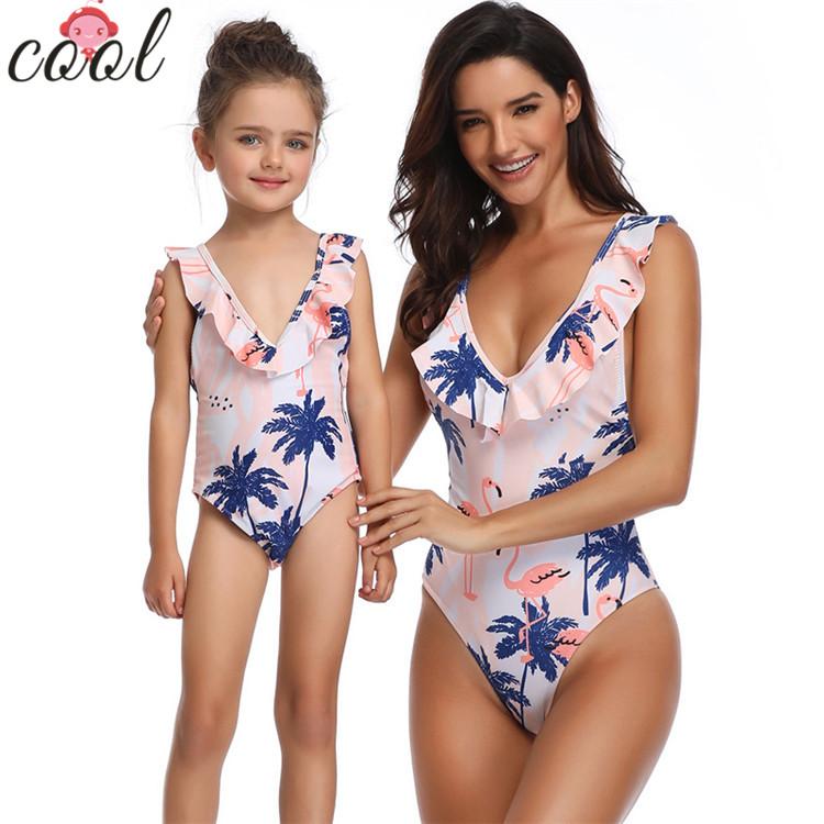 Baby swimsuit kids girl black flower swimwear women swimwear sexy bikini beachwear, Picture shown
