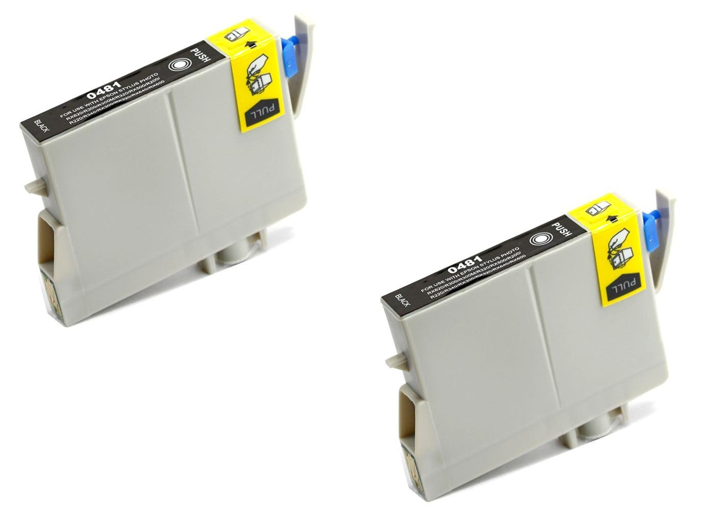 2pk T048420 YELLOW Reman Ink Cartridge for Epson T0484