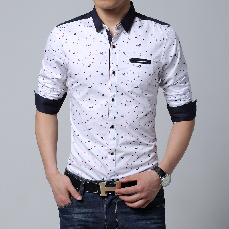 2019 Wholesale Men Long Sleeve Shirt Casual Slim Fit ...