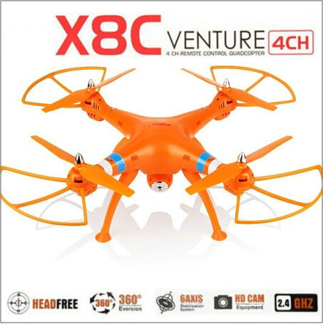 Syma X8C X8 2.4G 4ch 6 Axis With 2MP Wide Angle HD Camera RC Quadcopter RTF