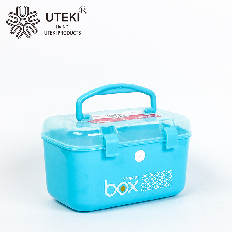 Outdoor portable small plastic storage containers with tote