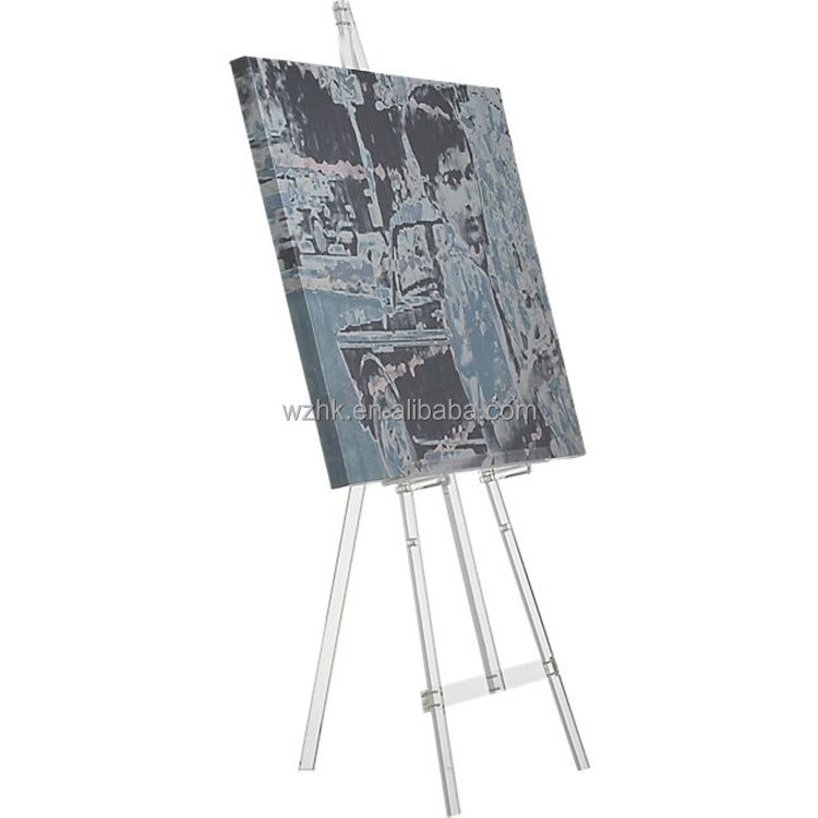 Cheap Wholesale Custom clear acrylic tripod easel for painting