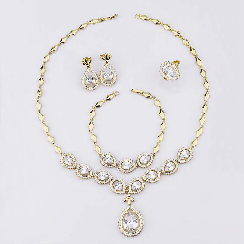 18k Gold Plated Expensive Jewelry Set, 18k Gold Plated Expensive ...