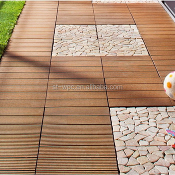 Water Proof Interlocking Bamboo Composite Decking Tile Deck