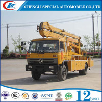 Dongfeng chassis 17m High attitude operation truck China new condition 4x2 dongfeng hydraulic lift table truck for sale