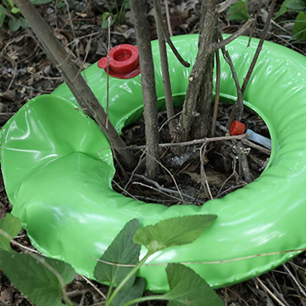 Finnhomy 2 Pack Tree Watering Ring Tree Watering Bag 15 Gallon Basic Water Saving Slow Release Root Water System for Tree Drip Irrigation Extremely Sturdy PVC Planting Water Bag for Tree and Shrubs