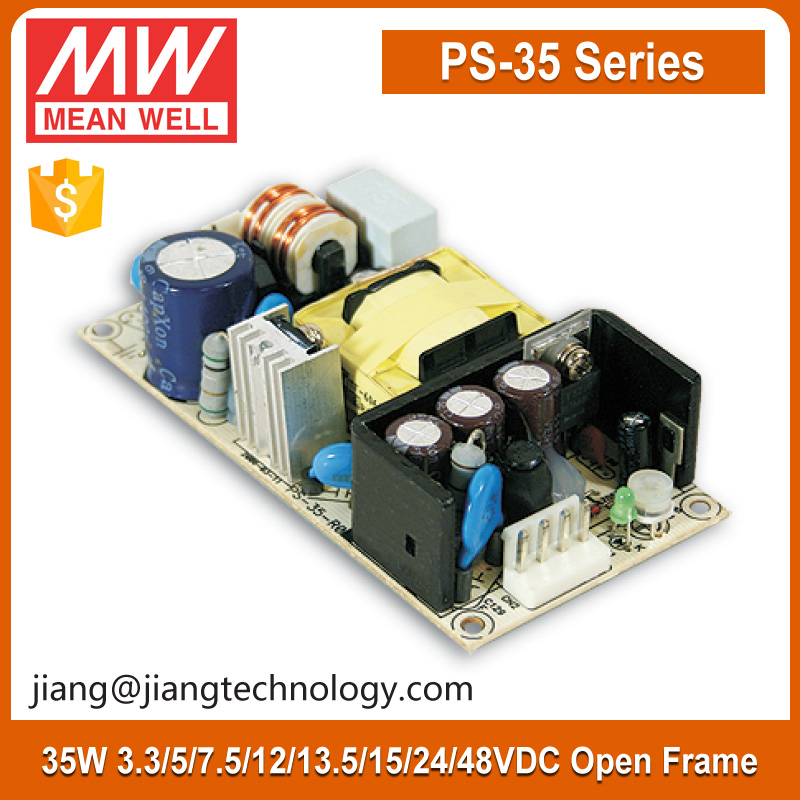36W 7.5V Power Supply SMPS Circuit PS-35-7.5 Meanwell Open Frame Switching Mode Power Supply
