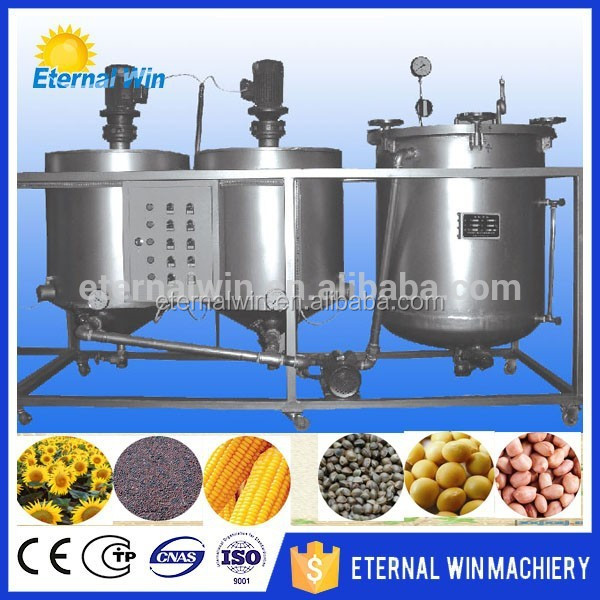 small scale palm oil refining machinery / small scale crude oil refinery