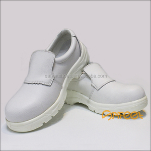 Popular Food Safety Shoes White Leather, Food Factory Safety Boots SA-6109