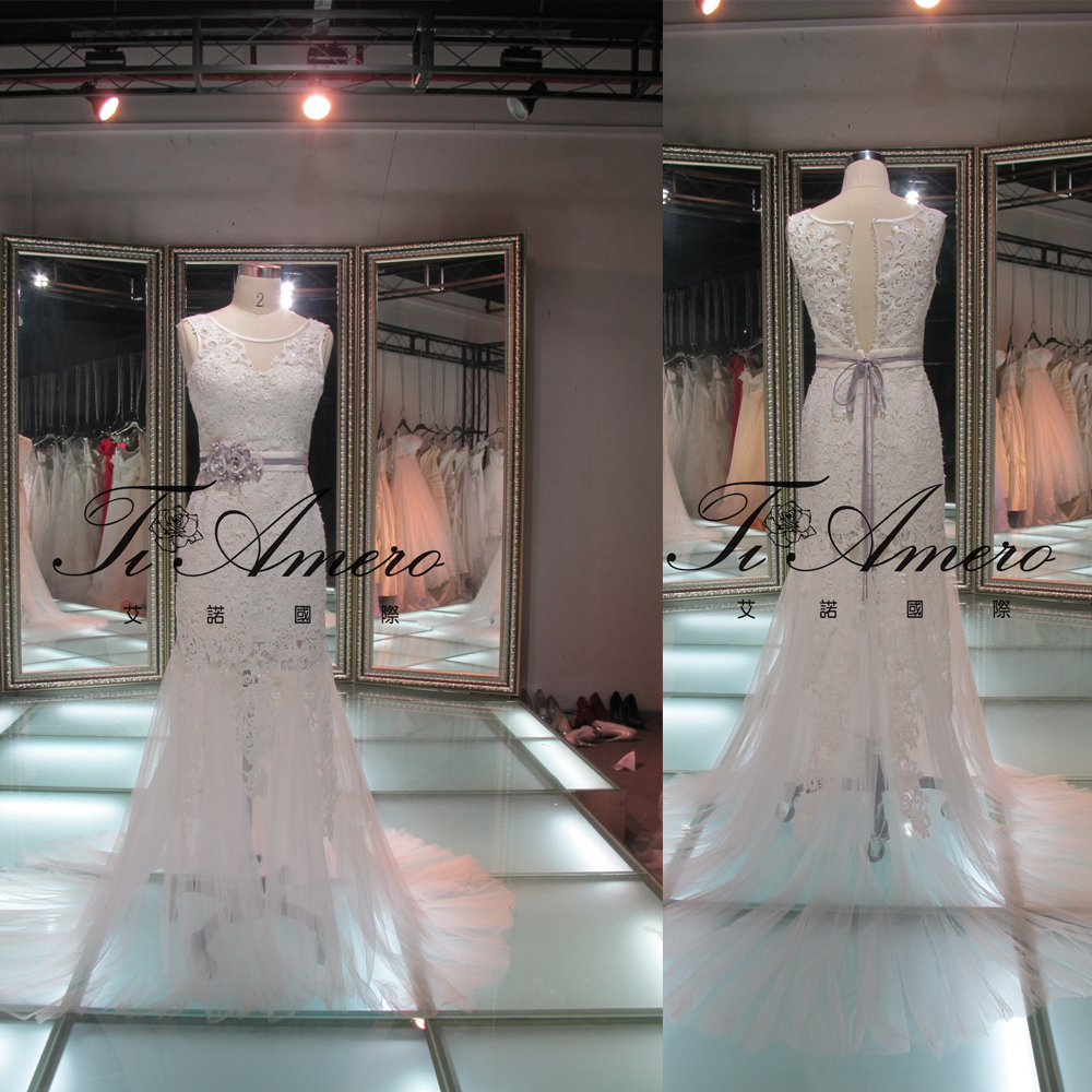 Latest Dress Designs Tulle Lace Straps Gray Sash Mother Of The Bride Dress /Keyhole Back Lace Sexy Short Wedding Dress
