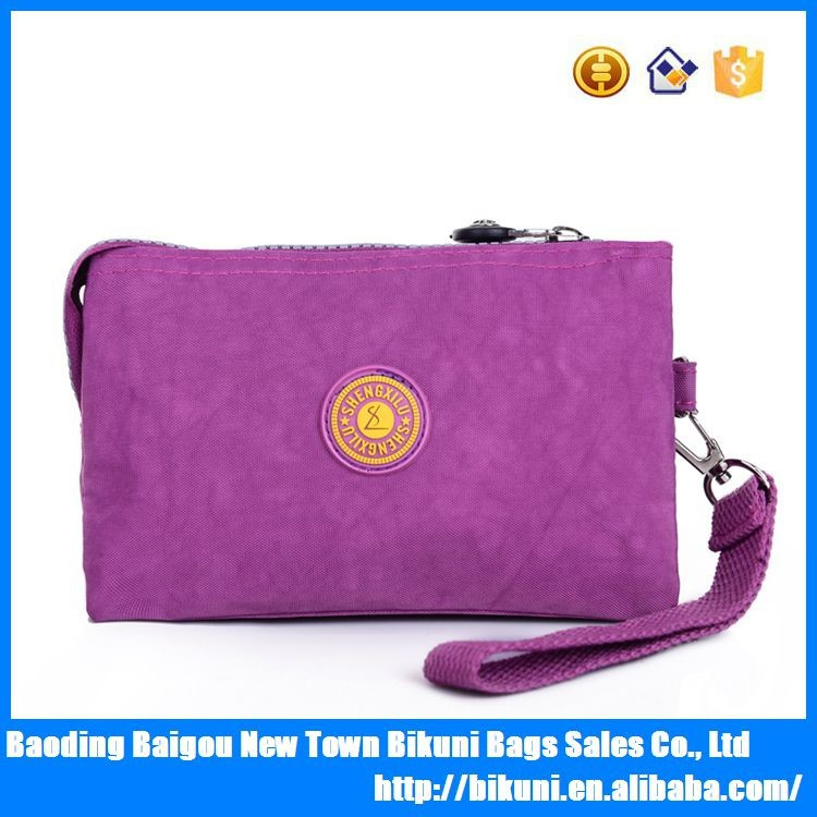 Suitable for ladies multi-function colorful washer wrinkle fabric new fashion women <strong>handbag</strong>