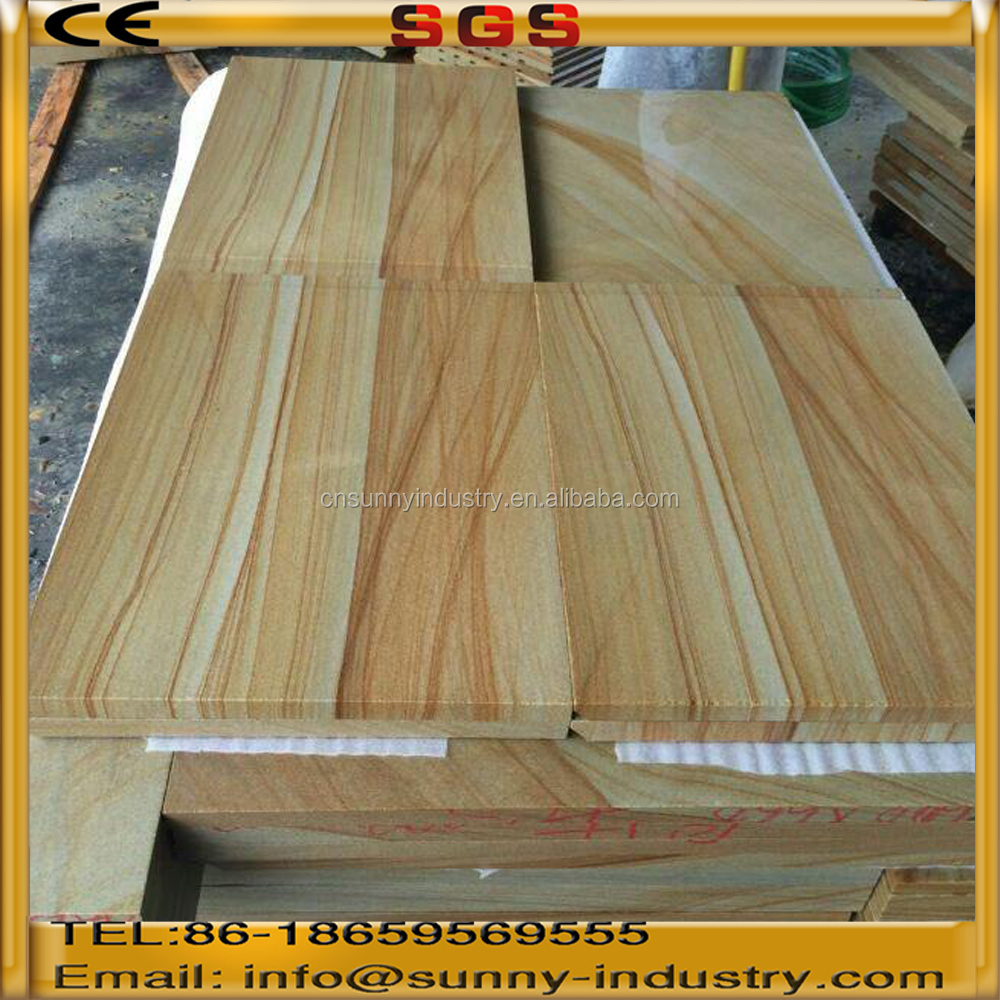 600*500 Natural yellow wood vein sandstone