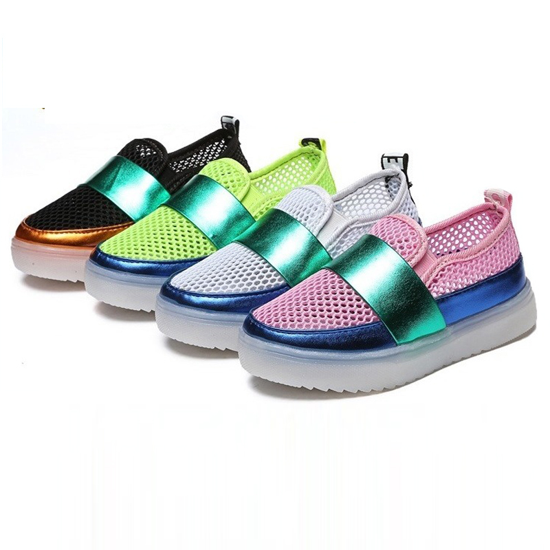 Kids shoes New Summer Air mesh children shoes with light toddler boys Girls Princess Cute glowing