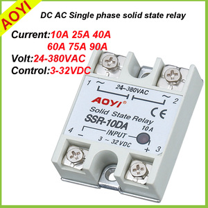 new white single phase 220VAC electronic relay SSR SSR-60DA