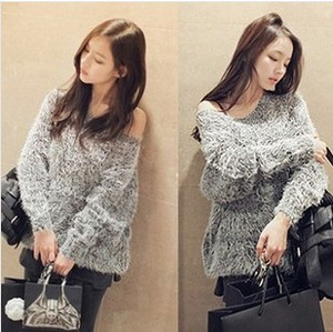 D60434A 2013 WINTER NEW KOREAN WOMEN'S FASHION LOOSE SWEATER CIAT SWEATER FLUFFY SWEATER