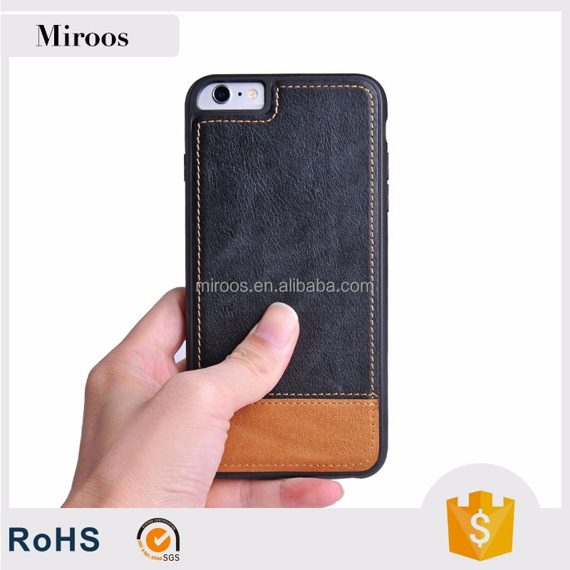 Best selling High quality cell phone case Genuine leather case for apple iphone 7 by China supplier Miroos